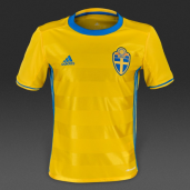 Футболка adidas Sweden 15/16 Kids Home AA0447