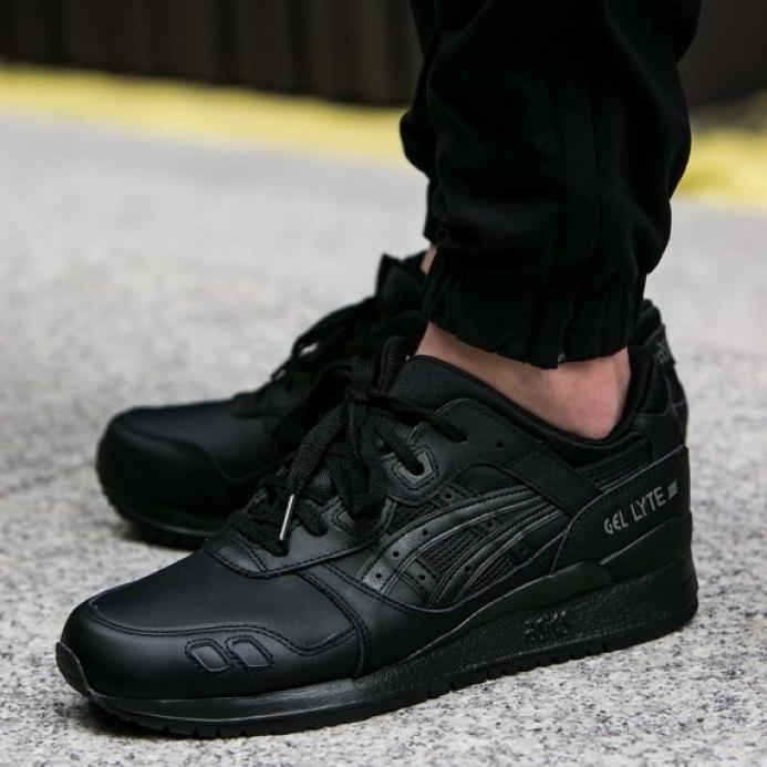 separation shoes 1e28e 6900e Кроссовки Asics TIGER Gel-Lyte III Leather Black HL6A2-9090